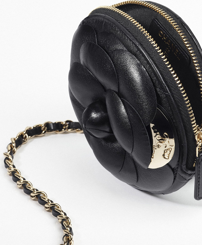 Chanel Camellia Clutch With Chain