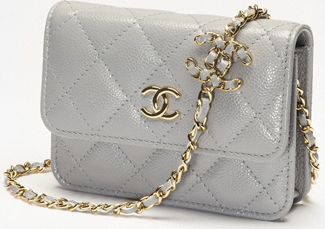 Chanel Coco CC Clutch With Chain V