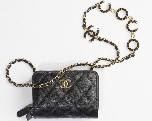 Chanel Coco CC Clutch With Chain