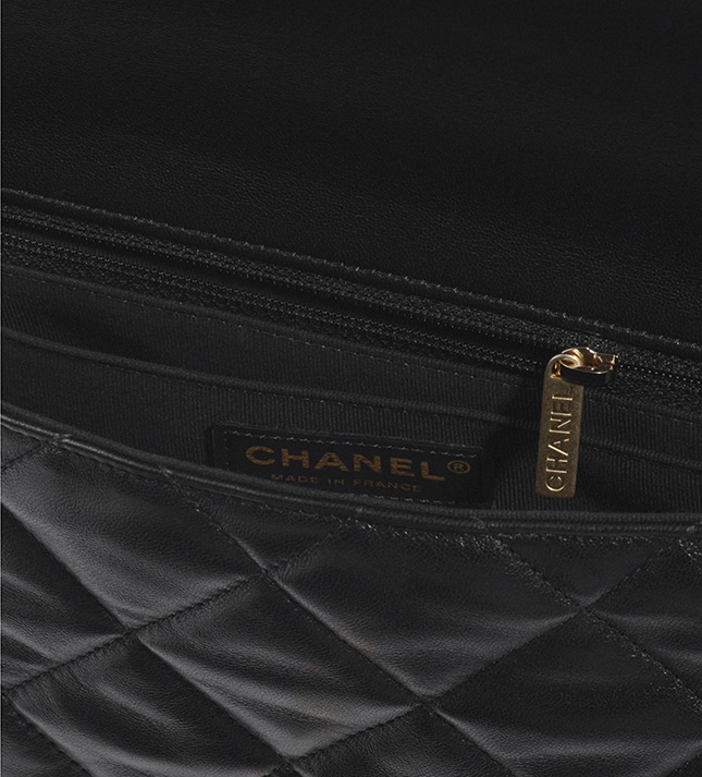 Chanel Flap Bag With Pearl And Woven Chain CC Logo
