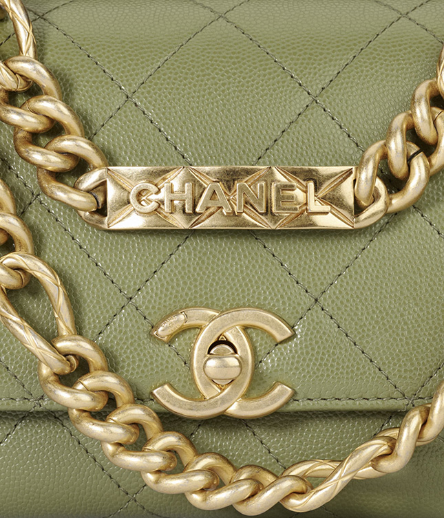 Chanel Logo Chain Flap Bag From the Fall Winter Collection Act