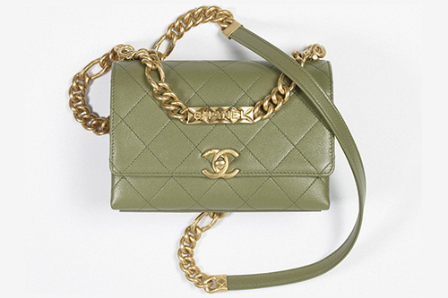 Chanel Logo Chain Flap Bag From the Fall Winter Collection Act thumb