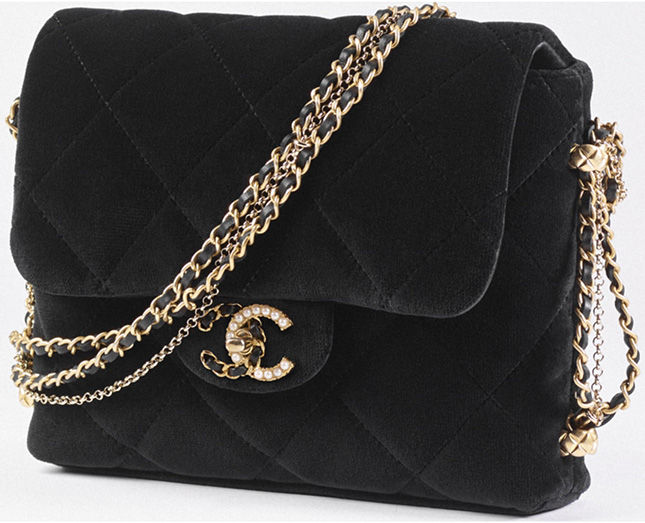 Chanel Mini Flap Bag With Pearl And Woven Chain CC Logo