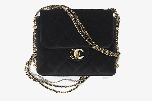 Chanel Mini Flap Bag With Pearl And Woven Chain CC Logo thumb