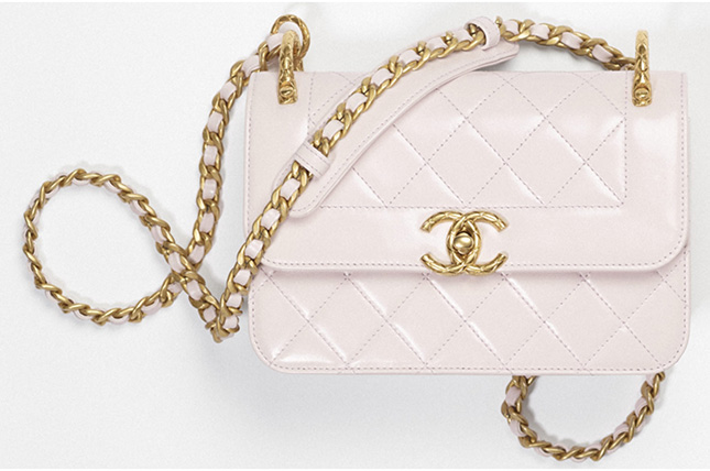 Chanel Vintage Mini Flap Bag With Quilted CC