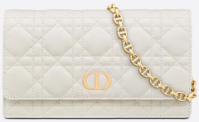 Dior Caro Belt Pouch With Chain