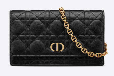Dior Caro Belt Pouch With Chain thumb