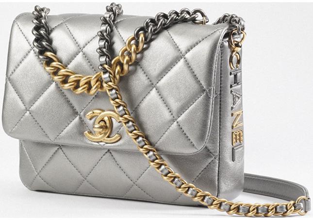 Chanel Bi Chain Metallic Mini Flap Bag