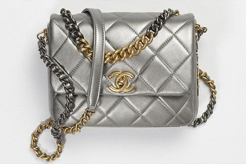 Chanel Bi Chain Metallic Mini Flap Bag thumb