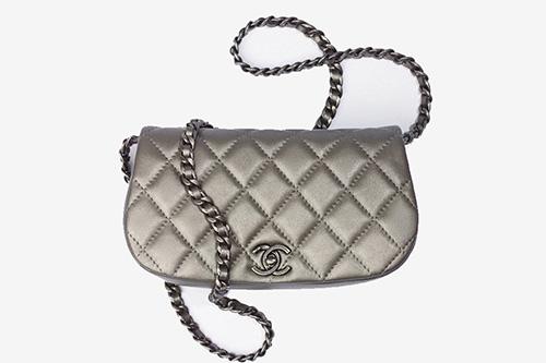 Chanel Metallic Clutch With Chain thumb