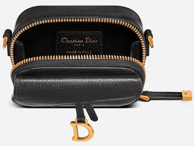 Dior Mini Saddle Shoulder Strap Pouch