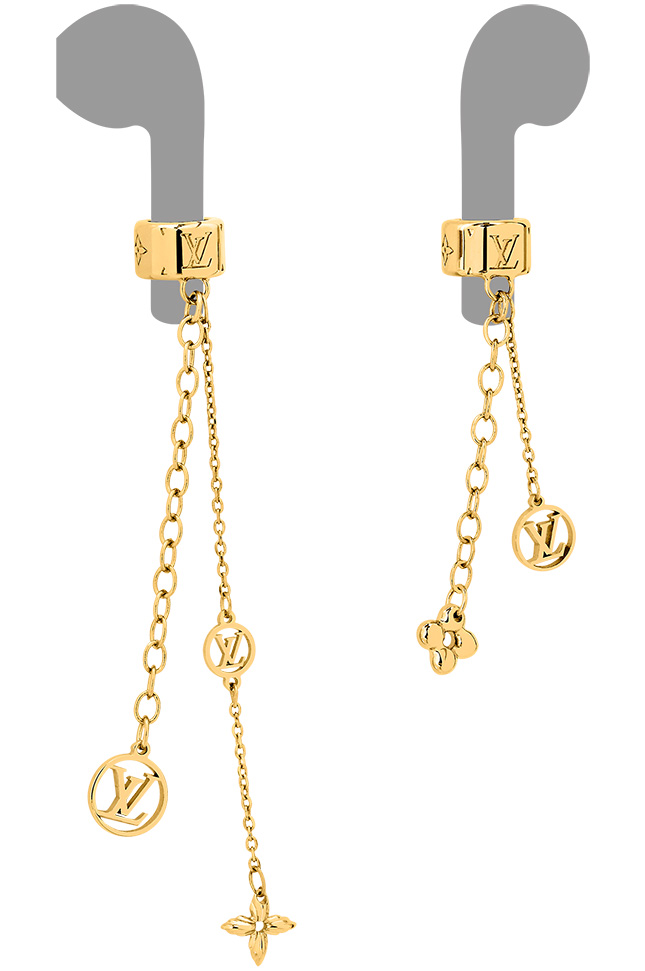 Louis Vuitton Nanogram Earphone Earrings