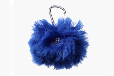 Chanel Shearling Card Holder With Jewel Hook thumb